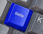 与技能键键盘 — 图库照片