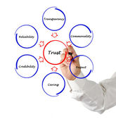 Diagram of trust — Stock Photo