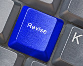 Keyboard with key for revision — 图库照片