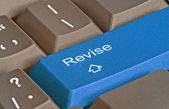 Keyboard with key for revision — Stockfoto