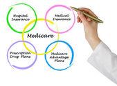 Schemat medicare — Zdjęcie stockowe