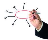 Prezentacja diagramu — Zdjęcie stockowe