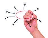 Presentazione del diagramma — Foto Stock