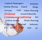 Online communications — Stock Photo