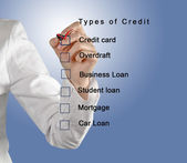 Types of credit — Stock Photo