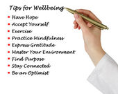 Tips for wellbeing — Stock Photo