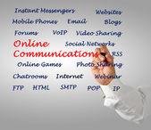 Comunicazioni online — Foto Stock