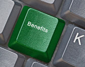 Key for benefits — Stock Photo