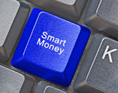 Keyboard with key for smart money — Stock Photo