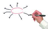 Presentatie van diagram — Stockfoto