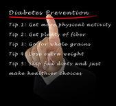 Zapobieganie cukrzycy — Zdjęcie stockowe