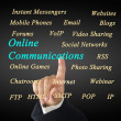 Online communications concept — Stock Photo #47997305