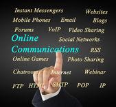 Online communications concept — Stock Photo