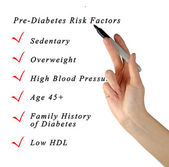 Pre-diabetes risk factors — Stock Photo