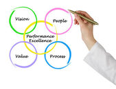 Diagramm der performance excellence — Stockfoto
