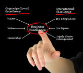 Diagram of business excellence — Stock Photo