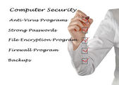 Checklist for computer security — 图库照片