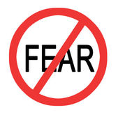 Sign to stop fear — Stock Photo