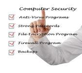 Checkliste für computersicherheit — Stockfoto
