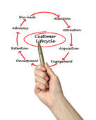 Customer Life Cycle — Foto Stock
