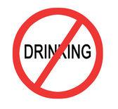Prohibiting drinking — Stock Photo