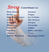 Stress contributes — Stock Photo