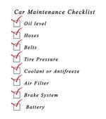 Car Maintenance Checklist — Stock Photo