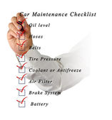 Car Maintenance Checklist — Stock Photo