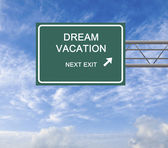 Road sign to dream vacation  — Stock Photo