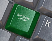 Hot key for business loans — Stock Photo