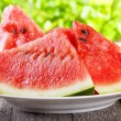 Stock Photo: Slices of watermelon