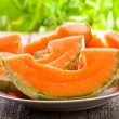 Stock Photo: Cantaloupe melon