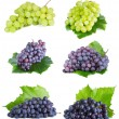 Grape with leaf — Stock Photo