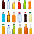 Various bottles on white background — Stock Photo
