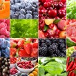 Various fruits, berries, herbs and vegetables — Stock Photo #12254954