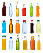 Various bottles on white background — Stock Photo