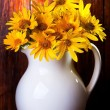 Bunch of yellow flowers - Stock Photo