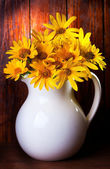Bunch of yellow flowers — Stock Photo