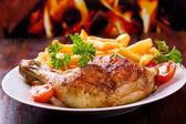 烤的鸡腿 — 图库照片