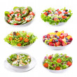 Set with different salads — Stock Photo #13173294