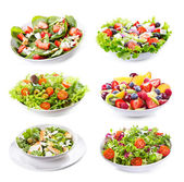 Set with different salads — ストック写真