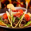 Plate with taco — Stock Photo #13517494