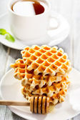 Stack of waffles — Stock Photo