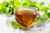 Cups of tea with mint — Stock Photo