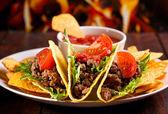 Placa com taco — Foto Stock