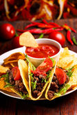 Plate with taco — Stock Photo