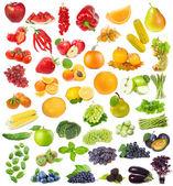 设置与水果、 浆果和草药 — 图库照片