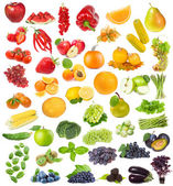 Zestaw z owoców, owoców i ziół — Zdjęcie stockowe