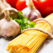 Spaghetti and vegetables - Stock Photo