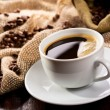 Cup of black coffee - Stock Photo